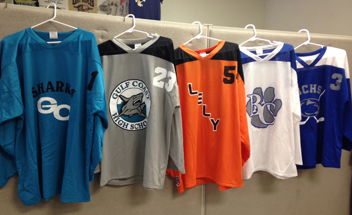 Screen Printed Jerseys in and near Marco Island Florida