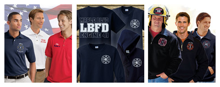 Screen Printed Fire Department Uniforms in and near Naples Florida