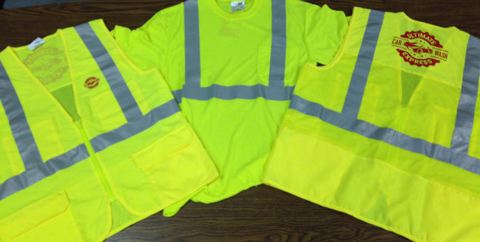 Screen Printed Safetywear in and near Naples Florida