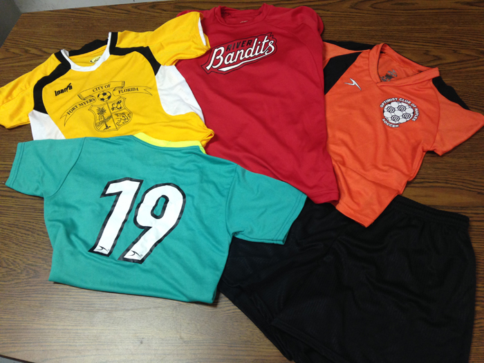 Screen Printed Soccer Uniforms in and near Naples Florida